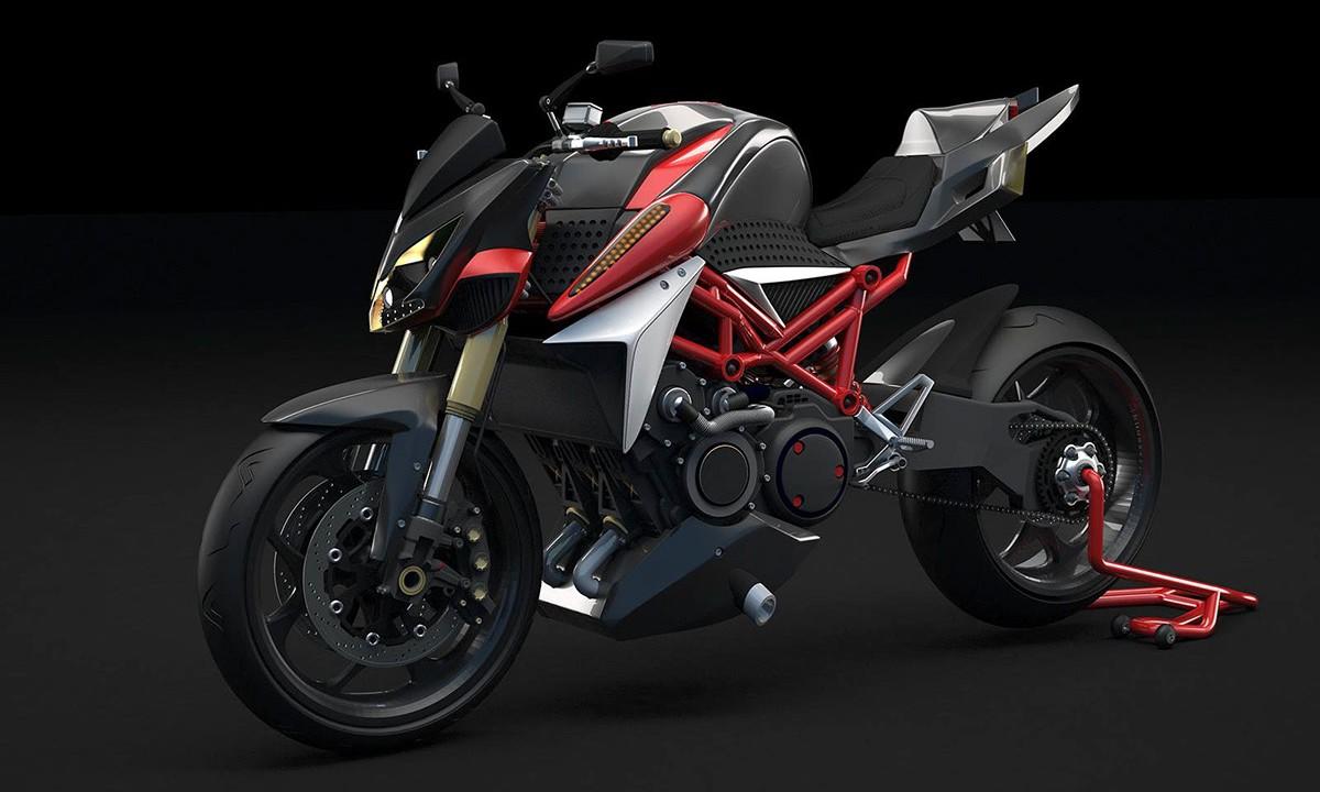 Hazylight3d Designer 3d sur Le Mans . Design Moto