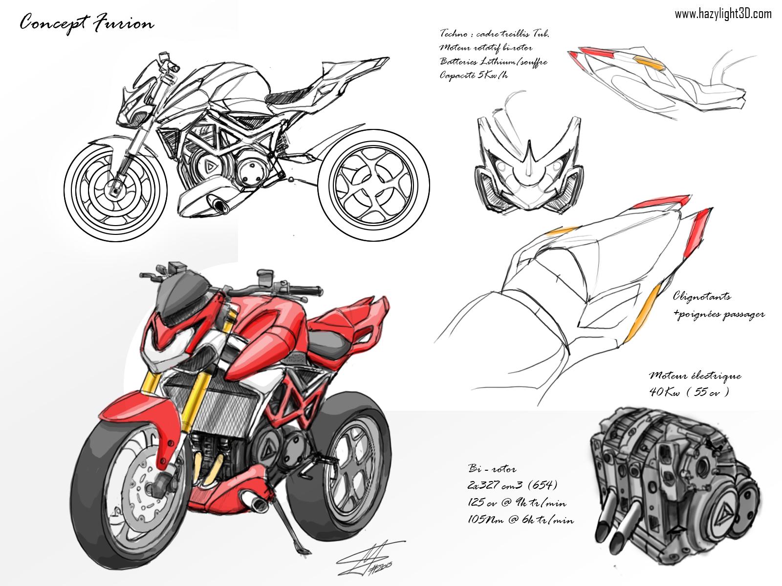 Hazylight3D - designer 3D Le mans design moto